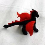 dragon red on black 1b